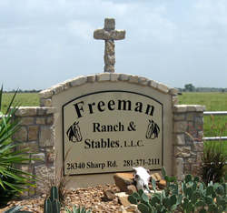 Freeman Ranch & Stables sign