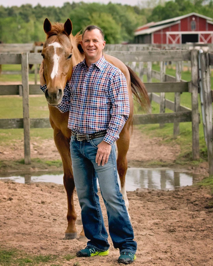 Derek Freeman and his trusted horse